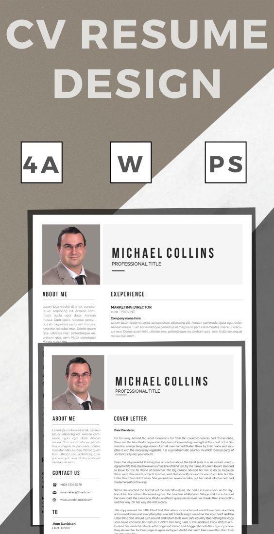 resume template men