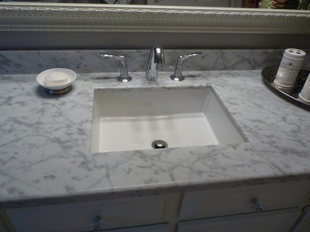 Bathroom Interior Kitchen Carrera Marble Counter Top