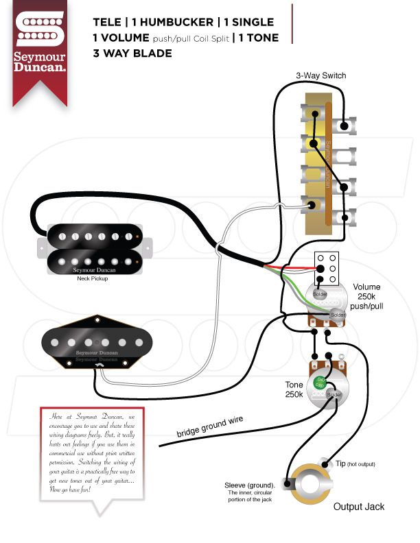 Wiring Diagrams Seymour Duncan Tele Hum + Single w