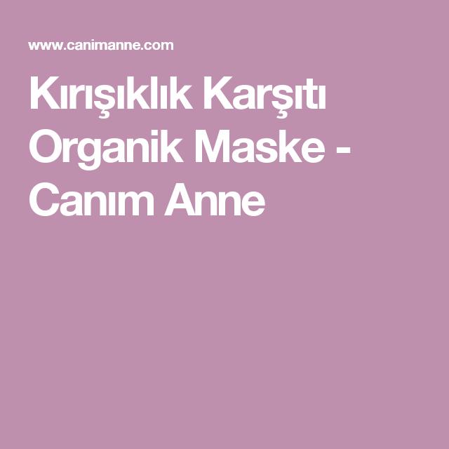 Kırışıklık karşıtı organik maske