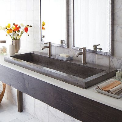 "Native Trails Trough 48"" Stone Bath Sink & Reviews  Wayfair Cool Wayfair Bathroom Sinks Decorating Inspiration"
