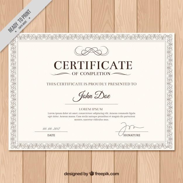 Diploma con marco clásico Vector Gratis | danilo peña | Pinterest ...