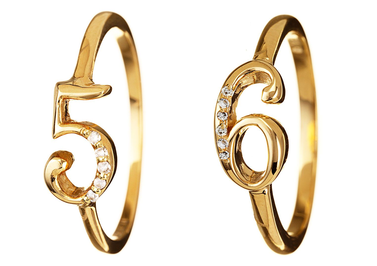 Lulu Frost Code 18K Gold Ring with Diamonds #5-9