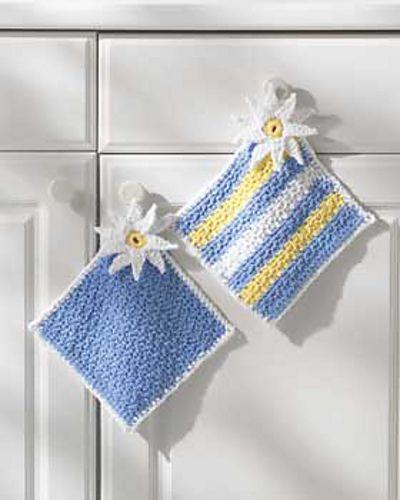 Ravelry: Pot Holders pattern by Lily / Sugarn Cream free pattern