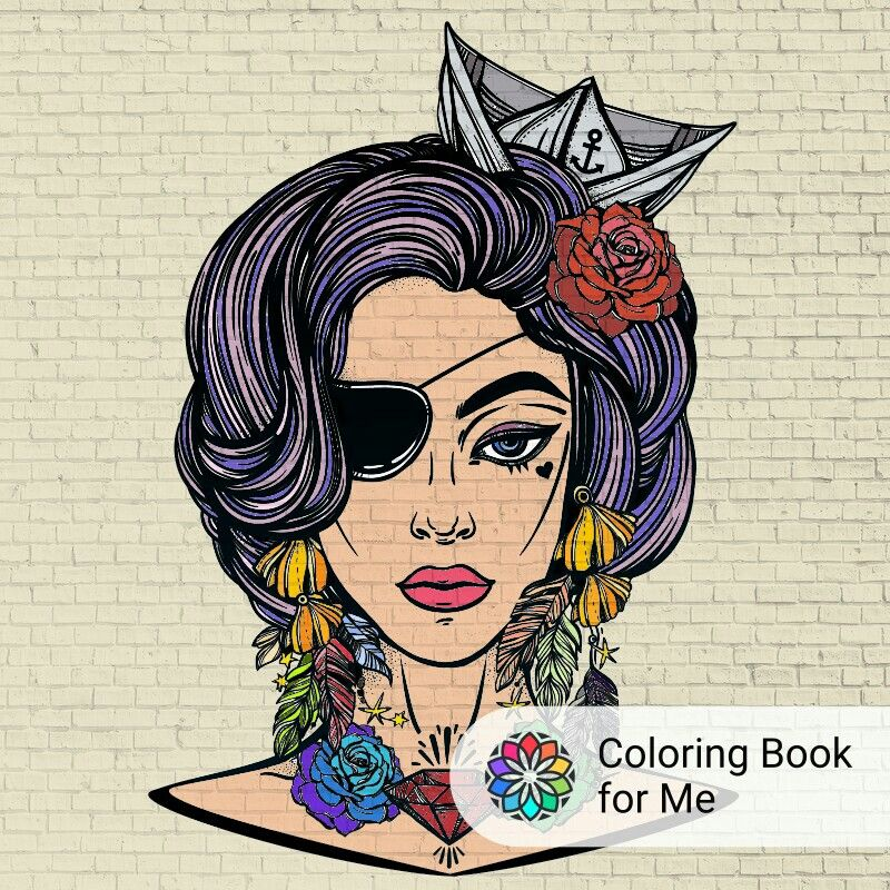 Coloring Book For Me The Rainbow Sailor