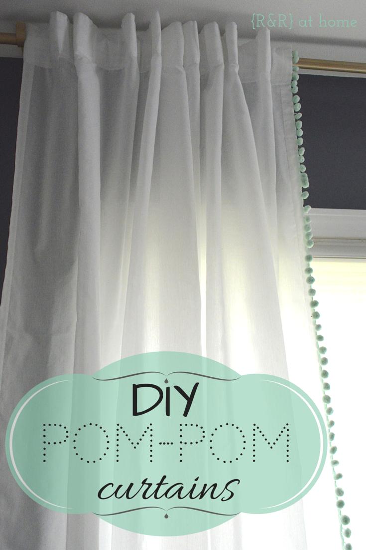 {Ru0026R} At Home: DIY Pom Pom Trim Curtains More