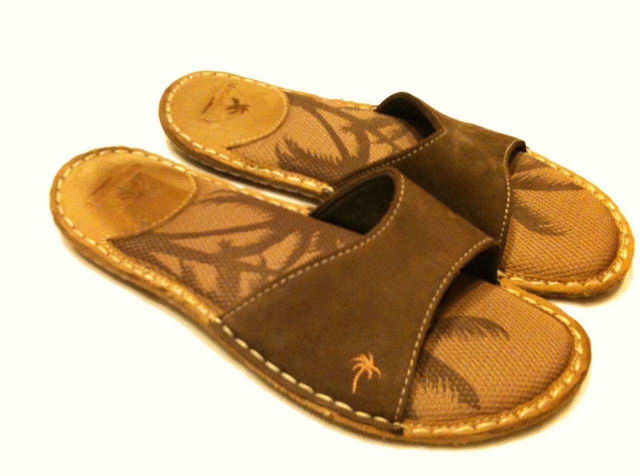 MARGARITAVILLE SLIDES SANDALS WOMENS Shoes sz 7 NEGRIL LEATHER
