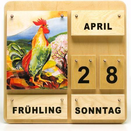 holzkalender vier jahreszeiten - dauerkalender | holzkalender, dauerkalender, kalender für kinder