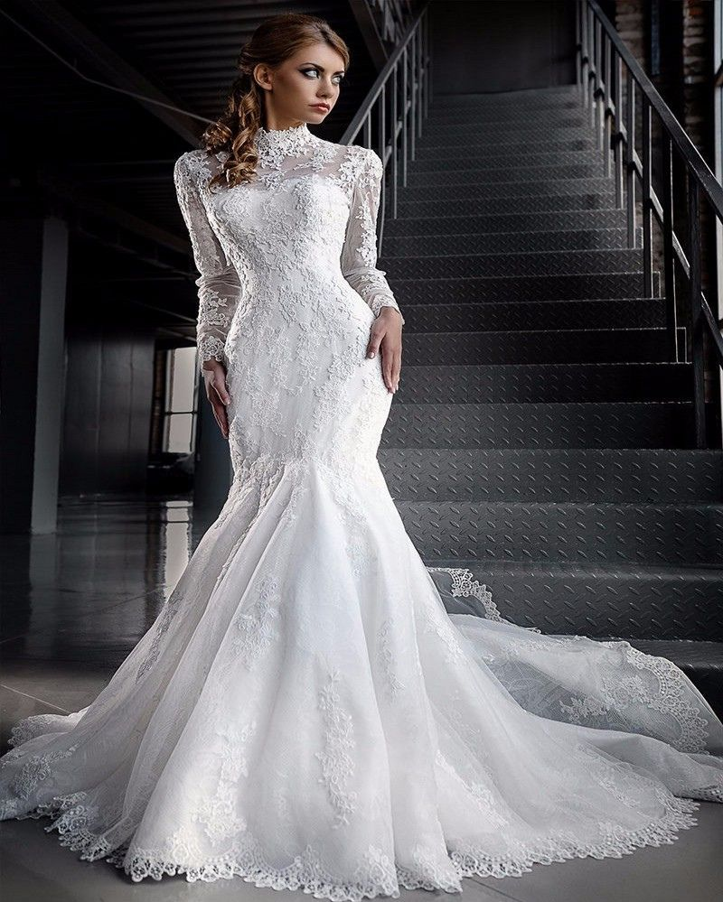 20+ High Neck Long Sleeve Wedding Dress - Informal Wedding Dresses ...