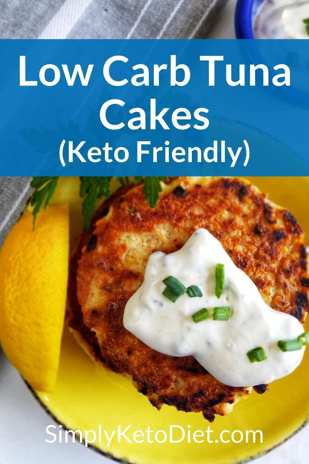 Try this Low Carb Keto Tuna Cakes with Lemon Dijon Sauce recipe for weight…