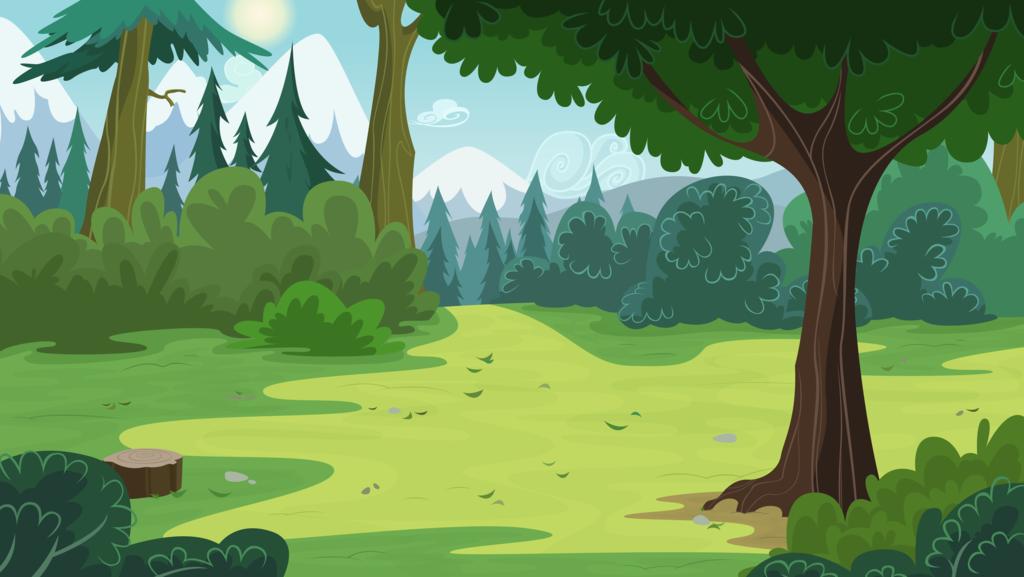 Pine Forest Forest Illustration Animation Background Forest Cartoon