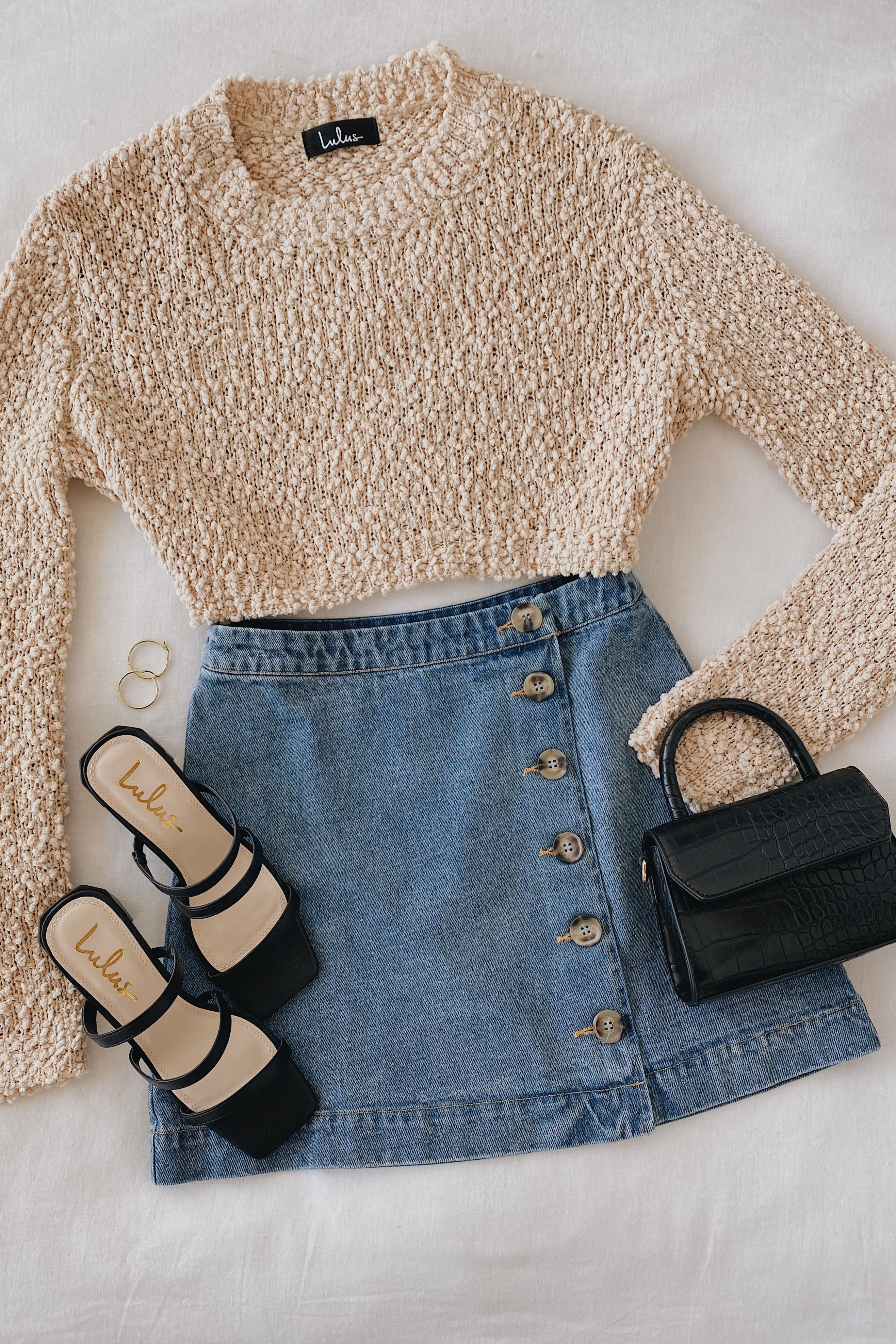 Classic Cutie Medium Wash Denim Button-Front Mini Skirt