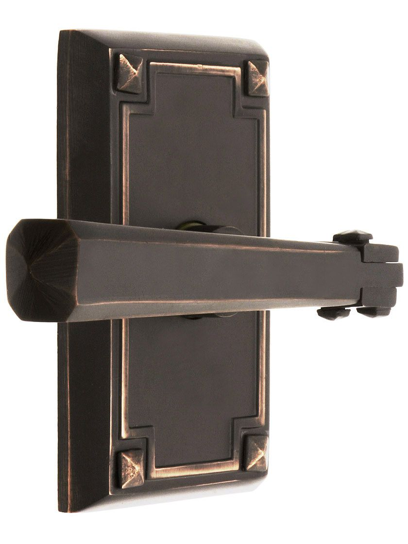 Charmant Traditional Door Knobs. Craftsman Style Lever Door Set With Rectangular  Rosettes.
