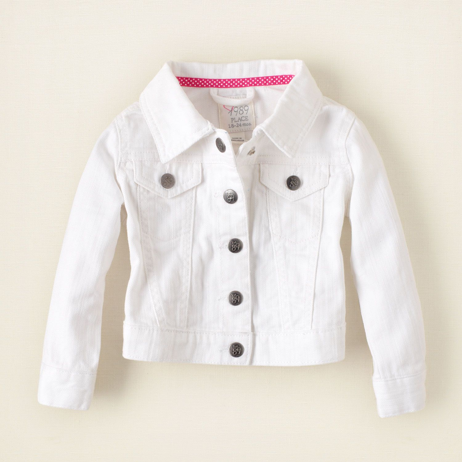 Color Jean Jacket The Children S Place 24 95 Clothes Baby Clothes White Jeans Girls
