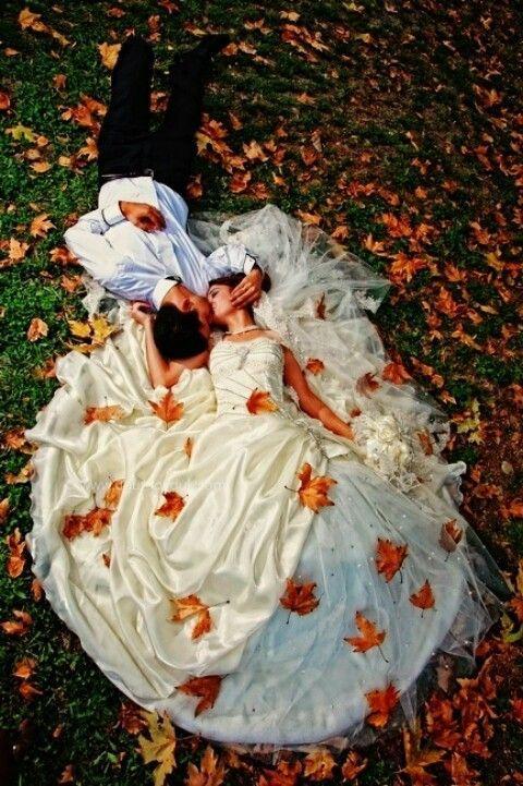 Romantische herfstbruiloft