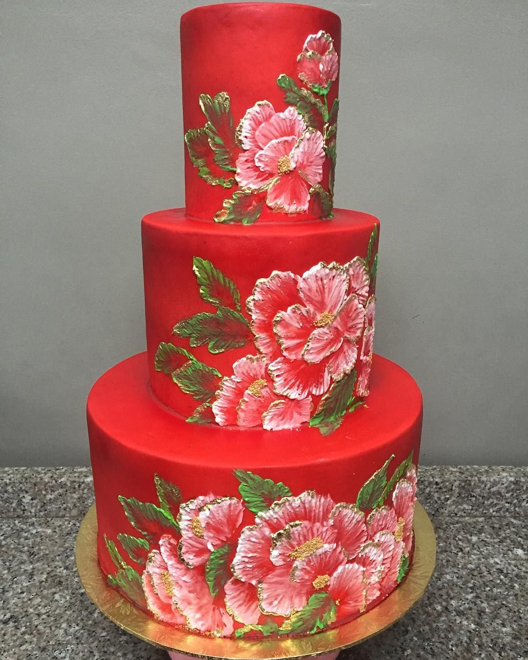 Another Peonies Chinese Themed Birthday Cake Upon Request Cakesbymannix Cakesforallocassions Cakeartist Peonies Chine Cake Themed Cakes Celebration Cakes