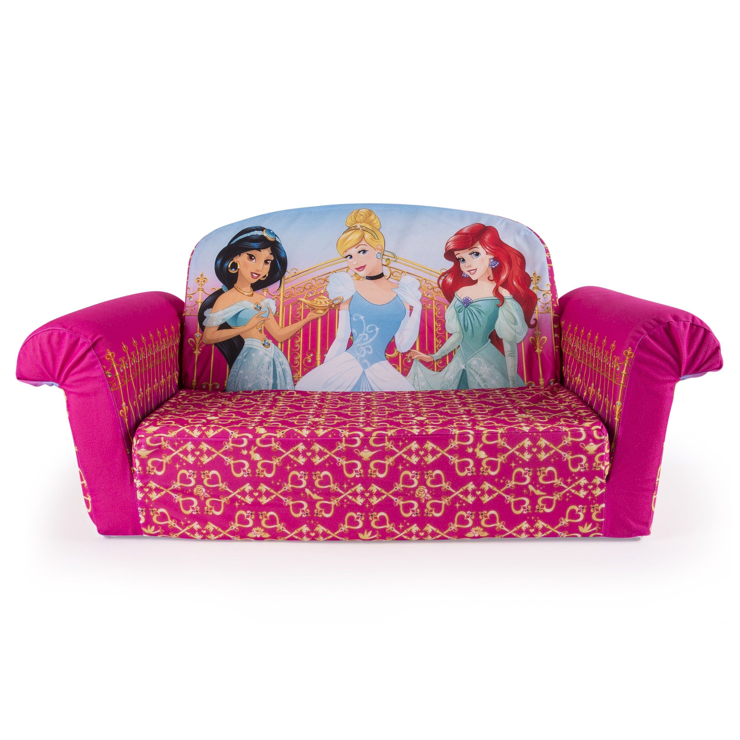 Marshmallow Furniture, Childrenu0027s 2 In 1 Flip Open Foam Sofa, Disney  Princess, By Spin Master