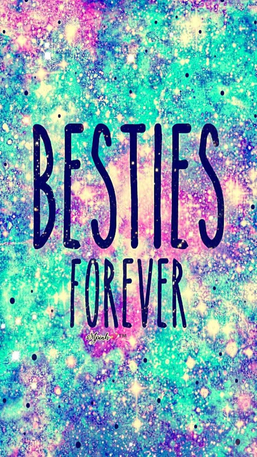 Glitter And Unicorns Wallpapers Top Free Glitter And Unicorns Backgrounds Wallpaperaccess In 2021 Besties Forever Galaxy Wallpaper Best Friend Wallpaper
