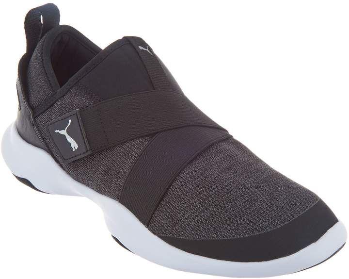 Puma Mesh Slip On Sneakers Dare AC | Black slip on