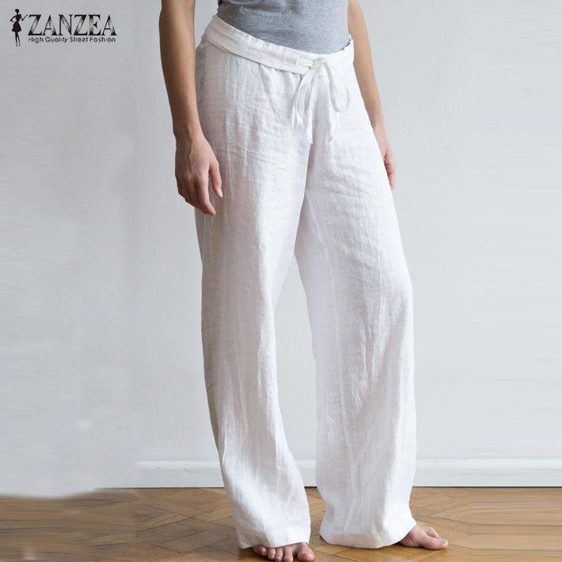 White Linen Pants Bohemian Pants Plus Size Clothing Maxi Pants Casual Pants Linen Pants For Women Wide Leg Pants Oversize Pants