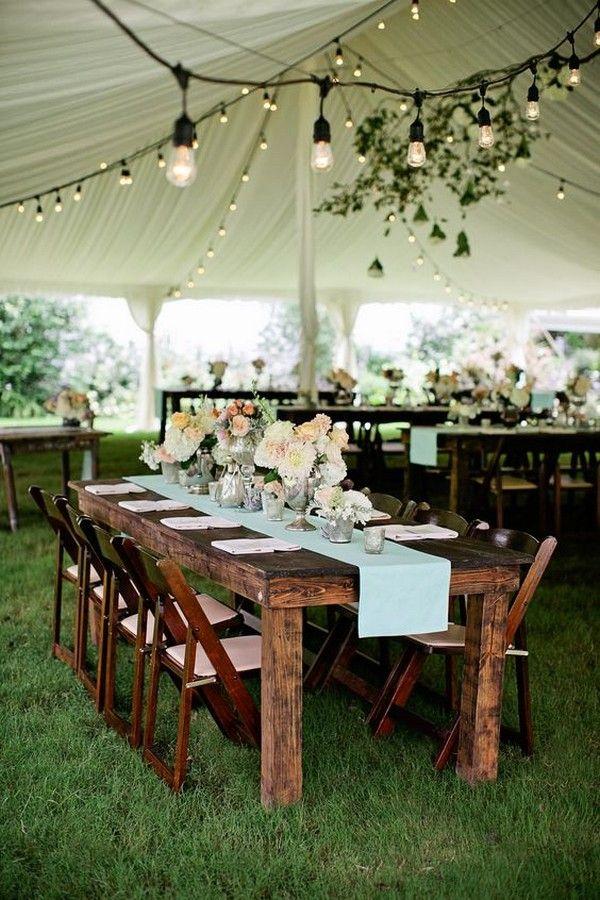 30 chic wedding tent decoration ideas wedding tent decorations rustic wedding tent with draped fabric and lights httpdeerpearlflowerswedding tent decoration ideas2 junglespirit Gallery