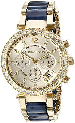Michael Kors Dames Parker Chronograph Analog Dress Quartz Reloj MK6238 Michaël Kors http://www.amazon.fr/dp/B00XM4909S/ref=cm_sw_r_pi_dp_pOuNwb09G6VE4