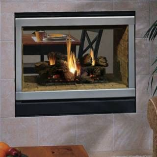 Superior Fireplaces 40 Elite Radiant See Through B Vent Gas Fireplace With Black Interior And Electronic Vented Gas Fireplace Superior Fireplace Gas Fireplace