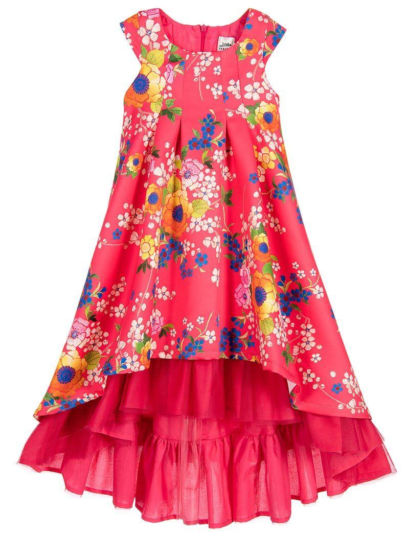 7f3806267d694 ALALOSHA  VOGUE ENFANTS  Must Have of the Day  Junior Gaultier girls Pink  Floral Satin dress