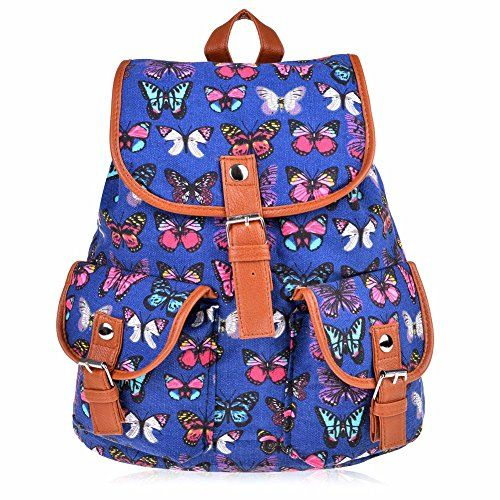 be057b659d Vbiger Canvas Backpack for Women  amp  Girls Boys Casual Book... https