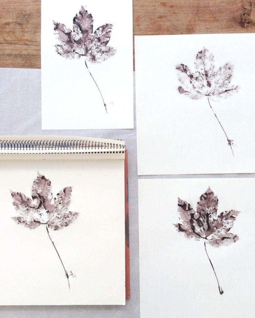Blätter Pressen blätter drucken ratzifatzi herbstdekoration diy und lovtamtam