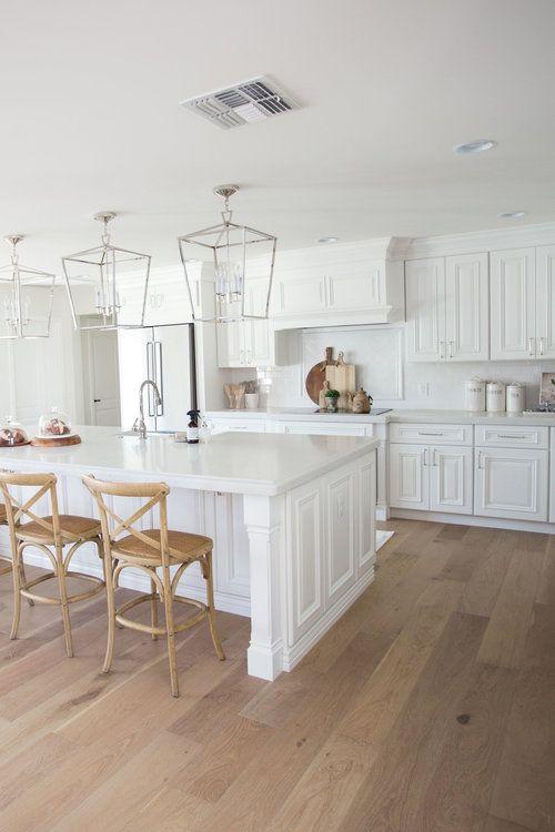 The Lifestyled Company Del Caverna Dos Project White Kitchen White Cabinets Whi White Kitchen Hardwood Floors White Kitchen Wood Floors Wood Floor Kitchen