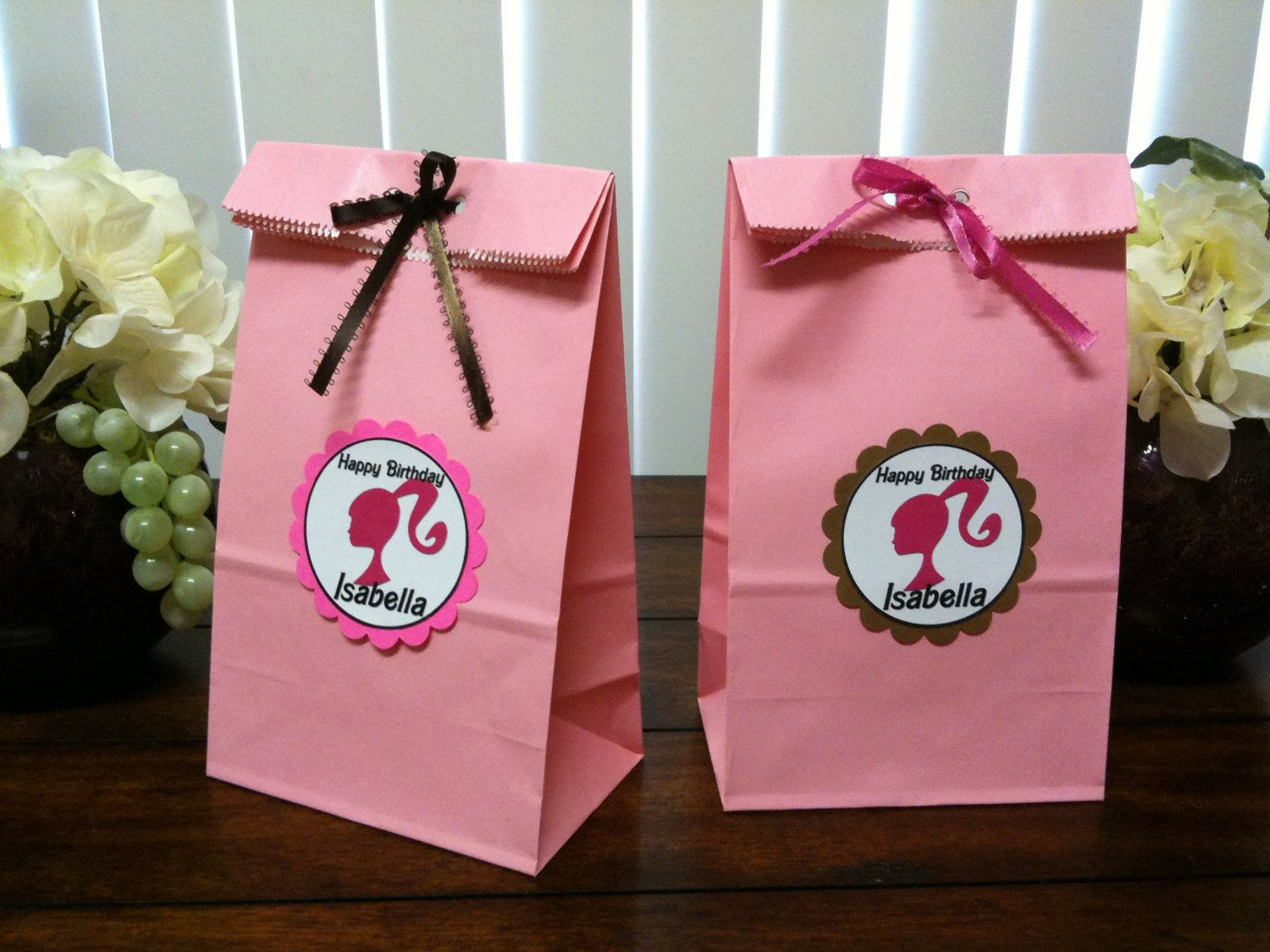 Favor Bags Vintage Barbie Party Baby Birthday Party Girl Barbie Gifts