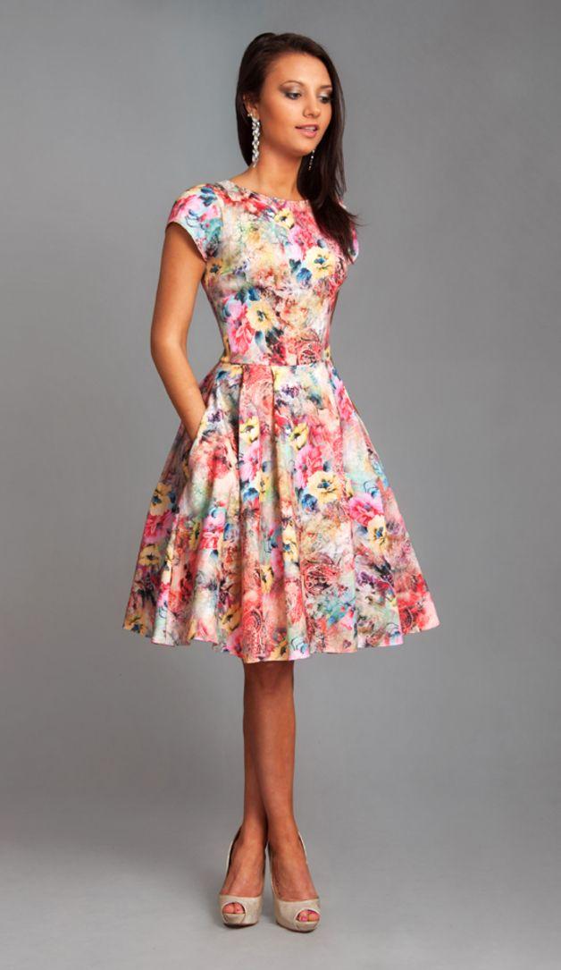 20b67600 Sukienka APRIL Midi Melissa - LiviaClue - Sukienki koktajlowe ...