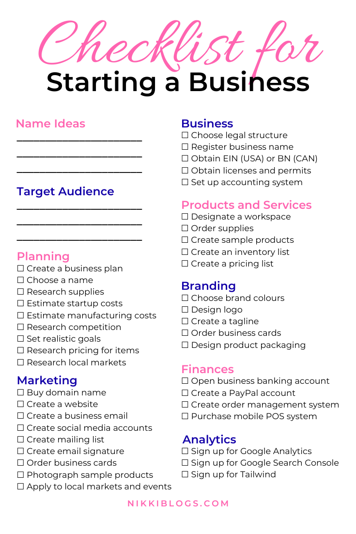 Use this checklist for starting a business to create your dream brand from home! | Maddy Osman, aka The Blogsmith, shares lessons learned about freelancing, WordPress plugins for bloggers, SEO writing and business strategy plans. You can find her latest knowledge drop to help you grow to a six-figure business at www.the-blogsmith.com/blog