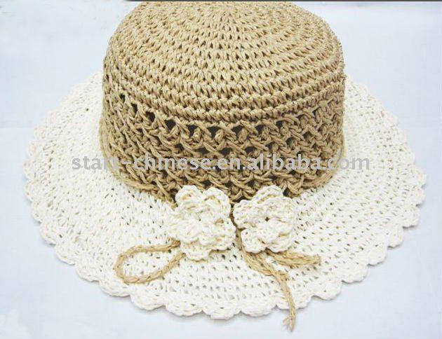 baby crochet gorros y sombreros-Sombreros Paja-Identificación del ...
