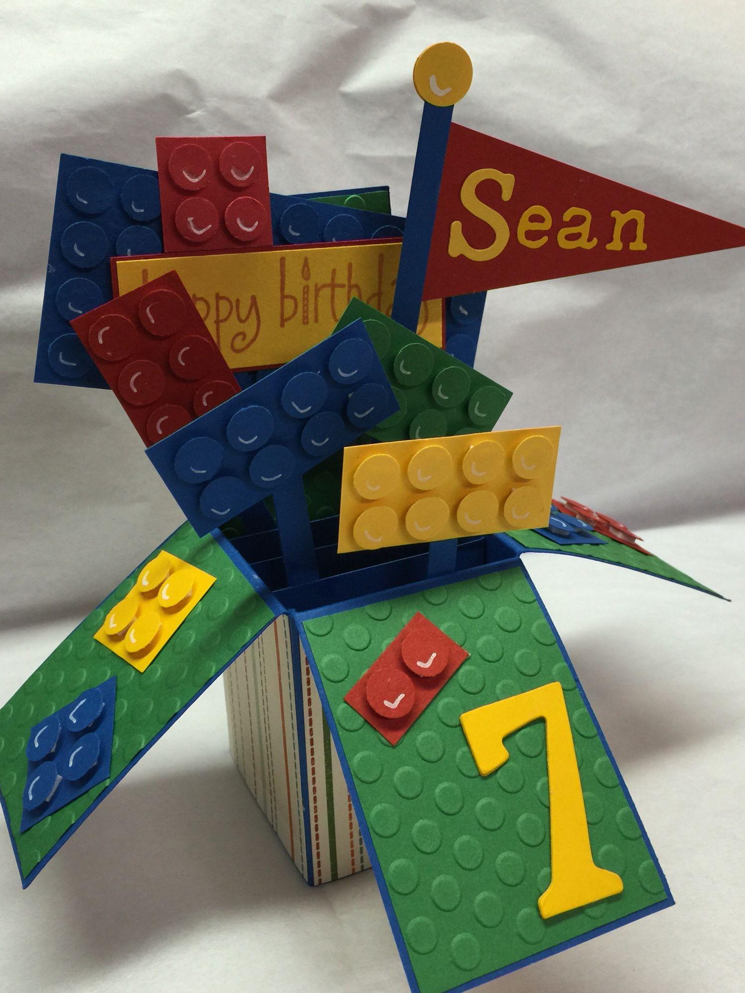 Lego Pop Up Box Card   Pop Up Box Cards   Pinterest   Box ...