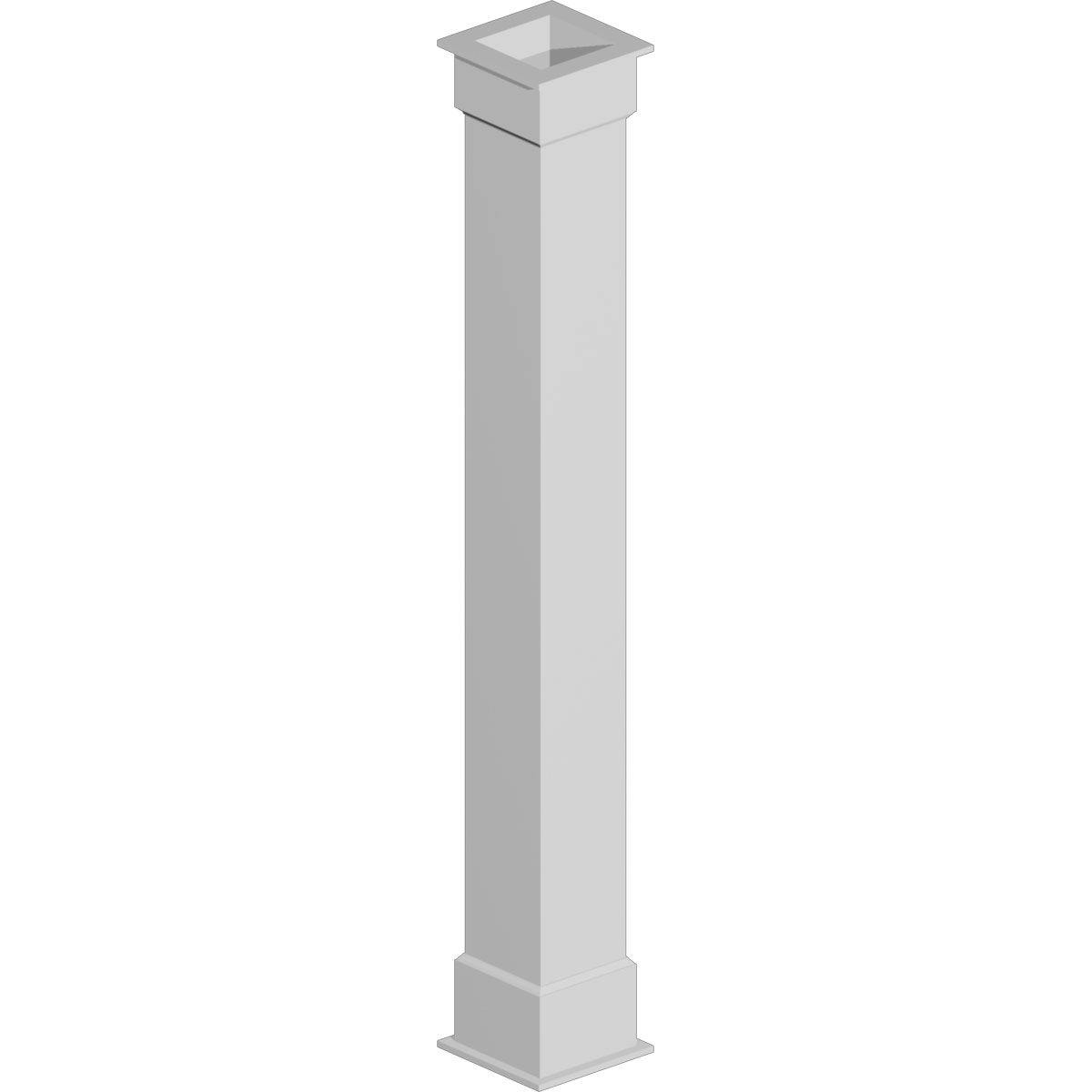 """6"""" Width X 96"""" Height Non-Tapered Plain (Economy) Fypon"""