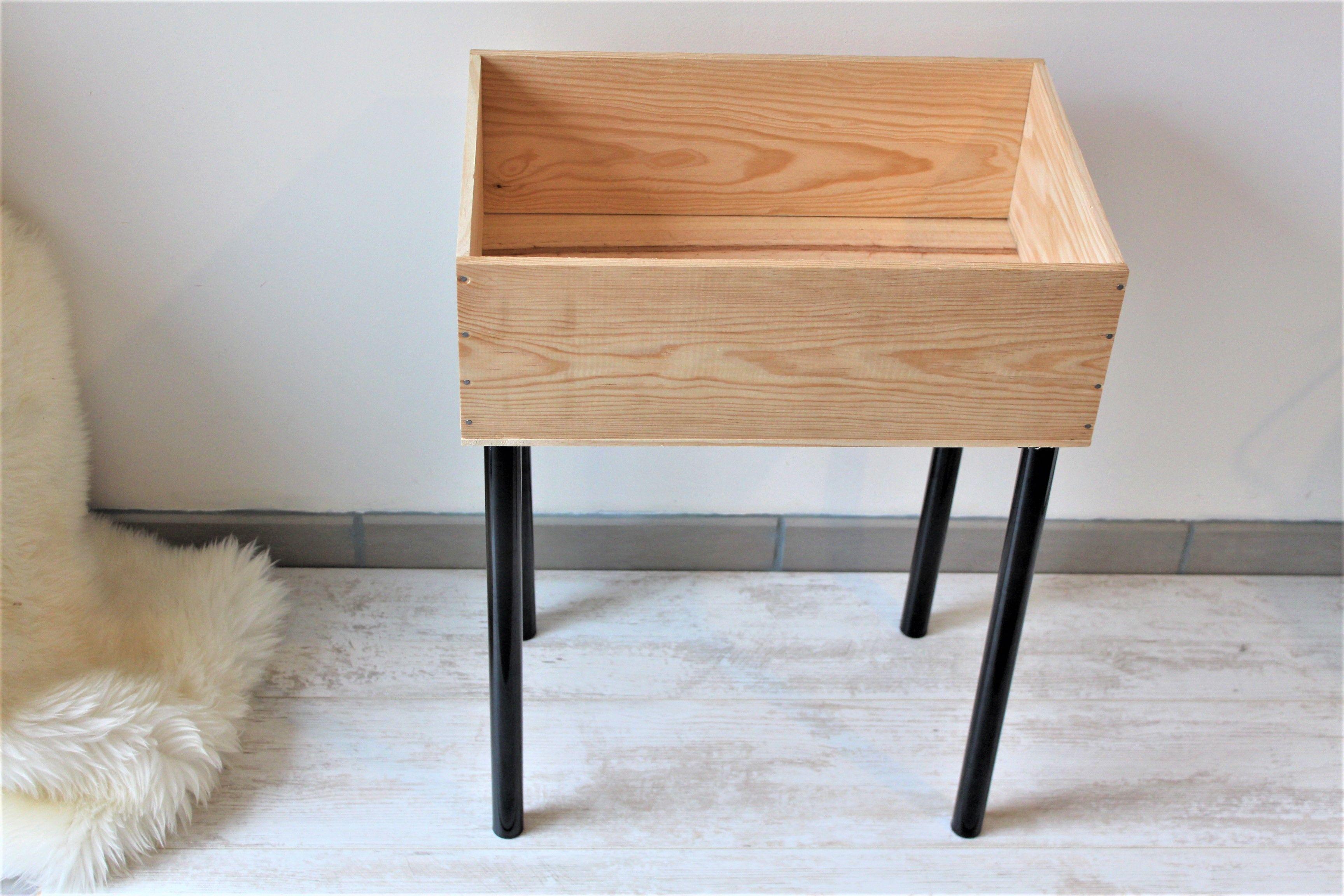 Diy meuble furniture rangement caisse bois vin wine box wood upcycle