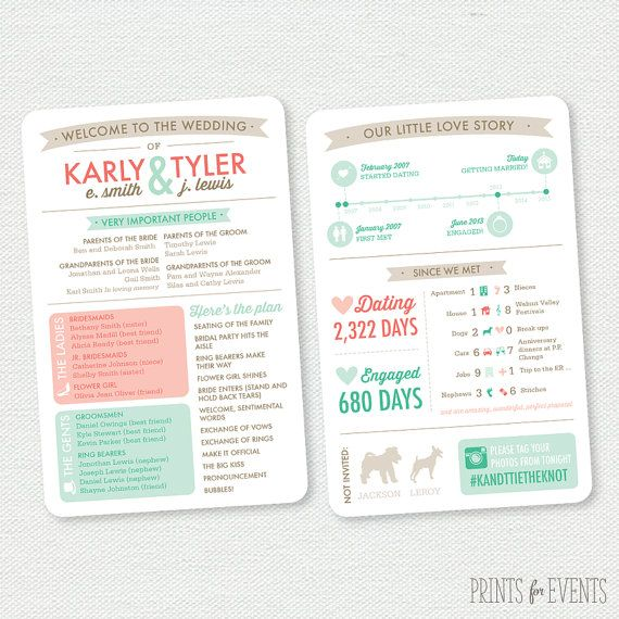 Info Graphic Wedding Program Printable Wedding Program Wedding In The Woods Wedding Ceremony Programs Ceremony Programs Printable Wedding Programs