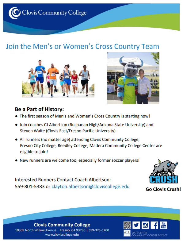 Join The Inaugural Cross Country Team At Clovis Community College Cusd Buchanan High School Alumnus And Cro Community College Arizona State University College