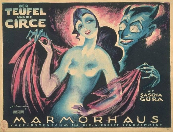 By Josef Fenneker  (1895-1956), expressionist Illustrator, 1920′s, his posters adorned many theaters (most notably, the prestigious Marmorhaus, Berlin).