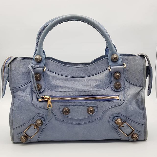 800 wire. Preloved Balenciaga Giant City Periwinkle