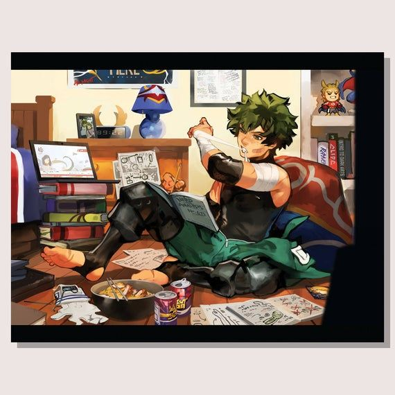 My Hero Academia Poster Midoriya Izuku Deku Art Print My Hero Anime My Hero Academia Memes