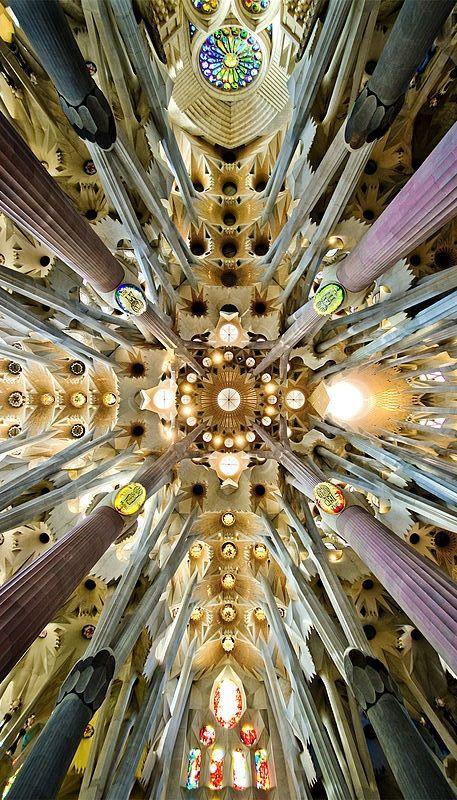 Roof of the Sagrada Familia, Spain