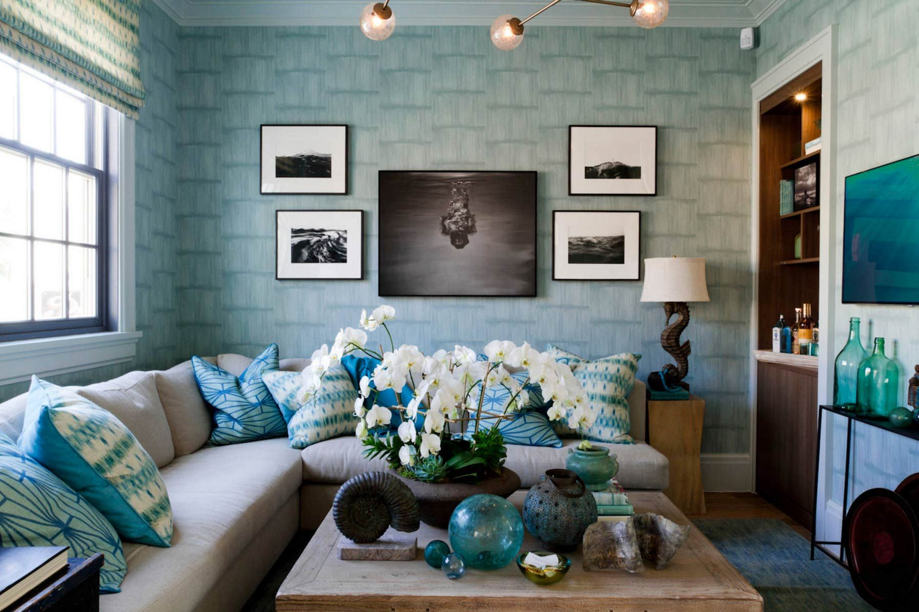 Sky Blue Raum Farbe Design Blaue Wohnzimmer Dekor Hellblaue Wande