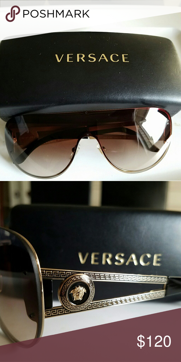 850ed2fc27 Versace Sunglasses Pale Gold Brown Gradient Absolutely stunning women  Versace sunglasses with case. These