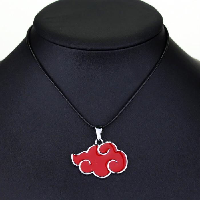 Anime Aesthetic Naruto Akatsuki Red Cloud Logo Metal