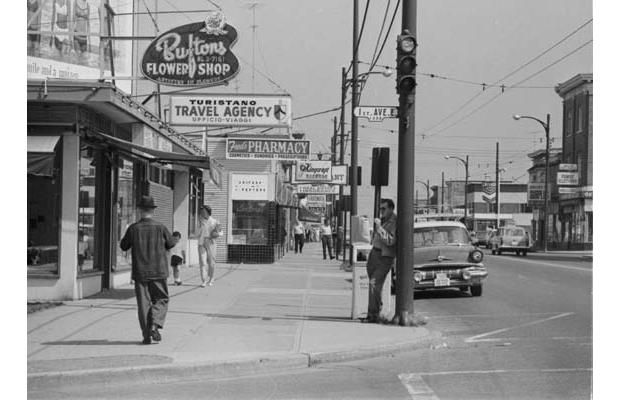 Commercial Drive Around East First Avenue In 1967 Vancouver City Richmond Vancouver Vancouver Bc Canada