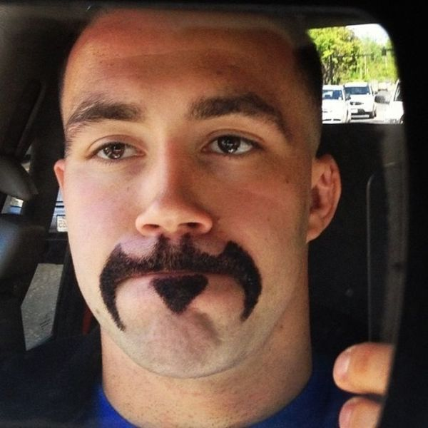 girlfriend has a mustache
