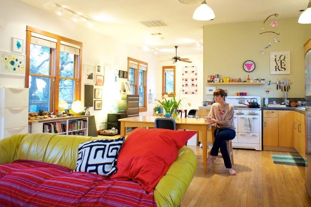 Callen Eli S Artful Treehouse Open Concept Kitchen Living Room